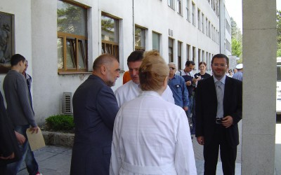 Predsjednik RH Stjepan Mesić u posjeti bolesnicima (2)