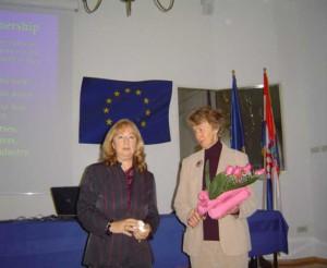 prof. dr.sc. Maja Relja i Mary Baker, predsjednica EPDA u posjetu Zagrebu